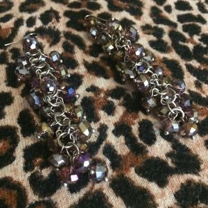 GORGEOUS & SPARKLY CRYSTAL BEAD DANGLE EARRINGS